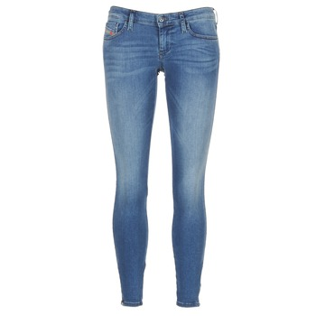 Textil Mulher Gangas Skinny Diesel SKINZEE LOW ZIP Azul