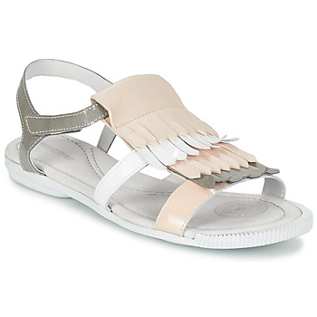 Sapatos Mulher Sandálias Pataugas CANDY/V F2C Branco / Cinza / Rosa