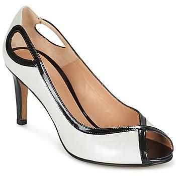 Sapatos Mulher Escarpim Perlato FEJILI Branco / Preto