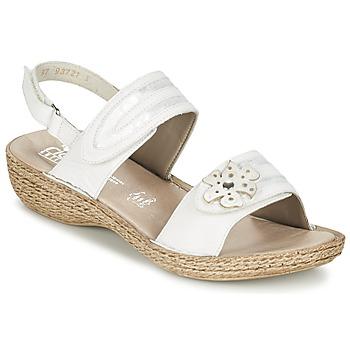 Sapatos Mulher Sandálias Rieker MIOLOI Branco