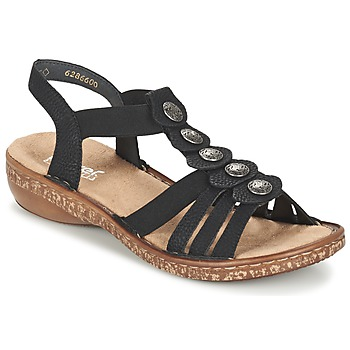 Sapatos Mulher Sandálias Rieker MECHAROLO Preto