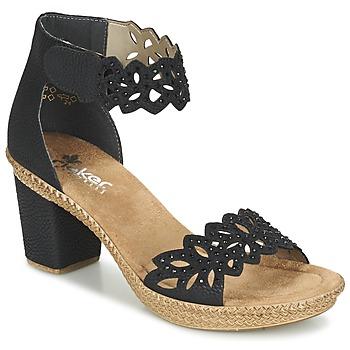 Sapatos Mulher Sandálias Rieker POTIRASSE Preto