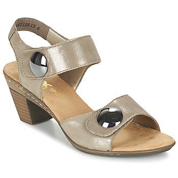 Sapatos Mulher Sandálias Rieker GERITEDO Cinza