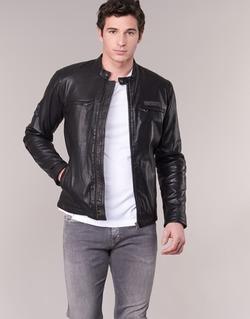 Textil Homem Casacos de couro/imitação couro Pepe jeans LENNON Preto
