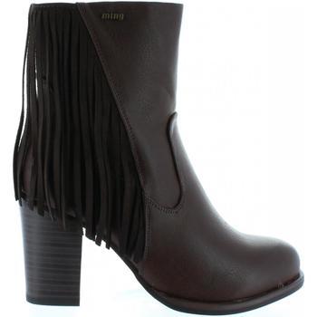Sapatos Mulher Botas MTNG 52859 Marrón