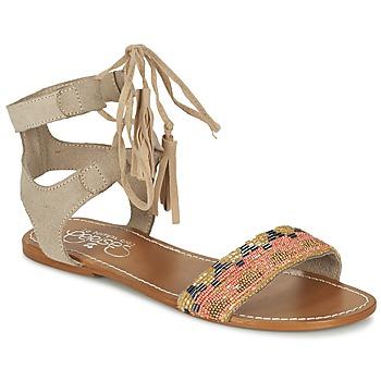 Sapatos Mulher Sandálias Le Temps des Cerises KAMPUR Bege