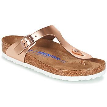 Sapatos Mulher Chinelos Birkenstock GIZEH Bronze