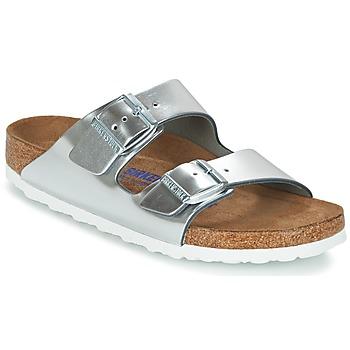 Sapatos Mulher Chinelos Birkenstock ARIZONA SFB Prata