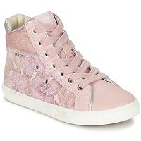Sapatos Rapariga Sapatilhas de cano-alto Geox J KIWI G. H Rosa
