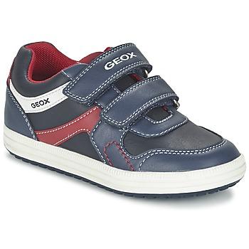 Sapatos Rapaz Sapatilhas Geox J VITA A Marinho / Vermelho