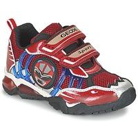 Sapatos Rapaz Sapatilhas Geox J SHUTTLE B. B Vermelho