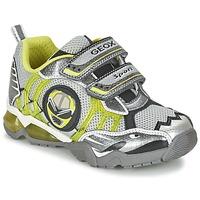 Sapatos Rapaz Sapatilhas Geox J SHUTTLE B. B Cinza / Limão