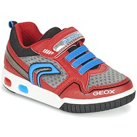 Sapatos Rapaz Sapatilhas Geox J GREGG B Vermelho / Azul