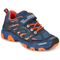 Sapatos Rapaz Sapatilhas Geox J MAGNETAR B. A Marinho / Laranja
