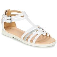 Sapatos Rapariga Sandálias Geox J S.KARLY G. D Branco