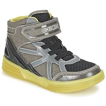 Sapatos Rapaz Sapatilhas de cano-alto Geox J ARGONAT B. B Cinza / Limão