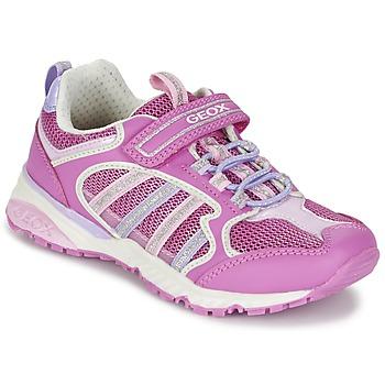 Sapatos Rapariga Sapatilhas Geox J BERNIE G. A Rosa / Lilás