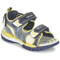 Sapatos Rapaz Sandálias desportivas Geox J BOREALIS B. D Marinho / Limão