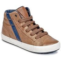 Sapatos Rapaz Sapatilhas de cano-alto Geox J ALONISSO B. B Conhaque