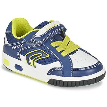 Sapatos Rapaz Sapatilhas Geox J GREGG A Azul / Limão