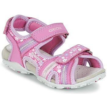 Sapatos Rapariga Sandálias desportivas Geox J S.ROXANNE A Rosa