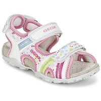 Sapatos Rapariga Sandálias desportivas Geox J S.ROXANNE A Branco / Rosa