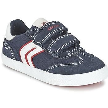 Sapatos Rapaz Sapatilhas Geox J KIWI B. M Marinho / Vermelho