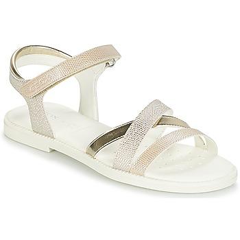 Sapatos Rapariga Sandálias Geox J S.KARLY G.D Bege / Ouro
