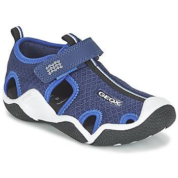 Sapatos Rapaz Sandálias desportivas Geox J WADER C Marinho