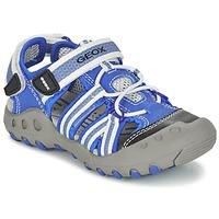 Sapatos Rapaz Sandálias desportivas Geox J SAND.KYLE C Azul / Branco