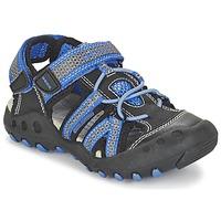 Sapatos Rapaz Sandálias desportivas Geox J SAND.KYLE C Preto / Azul