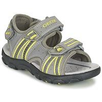 Sapatos Rapaz Sandálias desportivas Geox J S.STRADA A Cinza / Verde