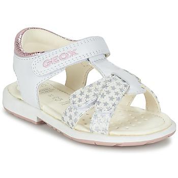 Sapatos Rapariga Sandálias Geox B SAN.VERRED D Branco
