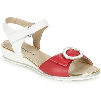 Sapatos Mulher Sandálias Pitillos MERVA Branco / Vermelho