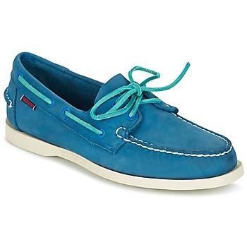 Sapatos Homem Sapato de vela Sebago DOCKSIDES Azul