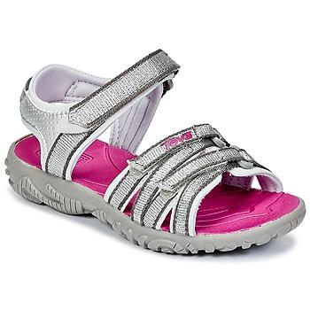 Sapatos Rapariga Sandálias desportivas Teva TIRRA Prata / Vermelho