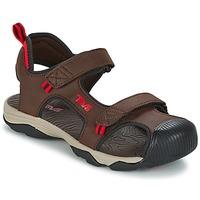 Sapatos Rapaz Sandálias desportivas Teva TOACHI 4 Castanho / Preto / Vermelho