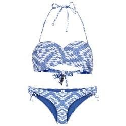 Textil Mulher Biquíni Rip Curl DEL SOL BANDEAU SET Azul / Branco