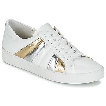 Sapatos Mulher Sapatilhas MICHAEL Michael Kors CONRAD SNEAKER Branco / Ouro / Prateado