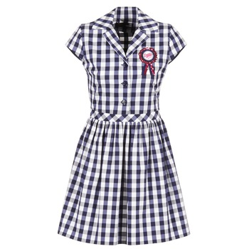 Textil Mulher Vestidos curtos Love Moschino WVF3001 Azul / Branco
