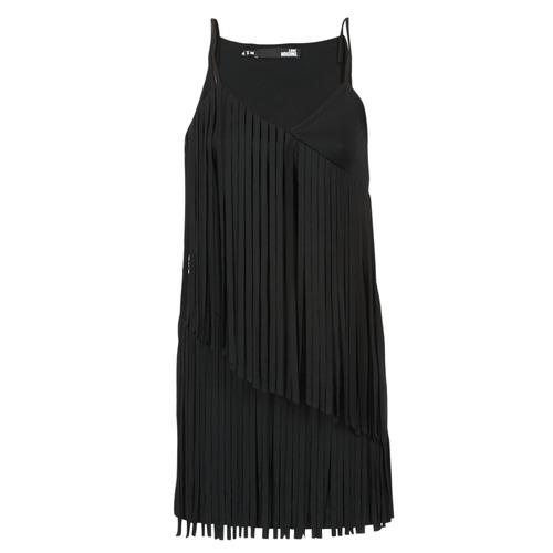 Textil Mulher Vestidos curtos Love Moschino W595800 Preto
