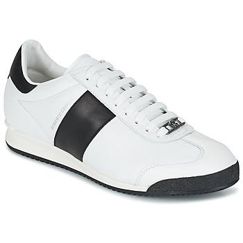 Sapatos Homem Sapatilhas Roberto Cavalli 2042C Branco / Preto