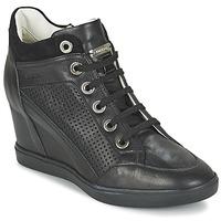 Sapatos Mulher Sapatilhas de cano-alto Geox ELENI C Preto