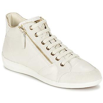 Sapatos Mulher Sapatilhas de cano-alto Geox MYRIA Branco