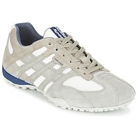 Sapatos Homem Sapatilhas Geox SNAKE Cinza / Branco