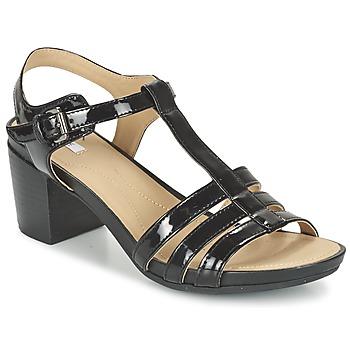 Sapatos Mulher Sandálias Geox D SYMI C Preto