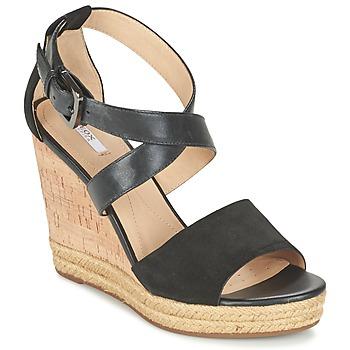 Sapatos Mulher Sandálias Geox D JANIRA E Preto