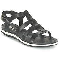Sapatos Mulher Sandálias Geox D SAND.VEGA A Preto