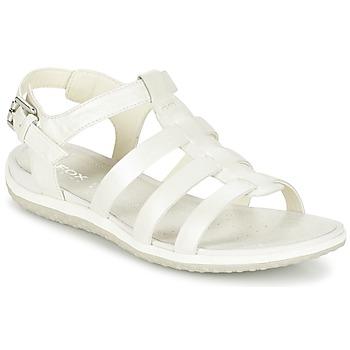 Sapatos Mulher Sandálias Geox D SAND.VEGA A Branco