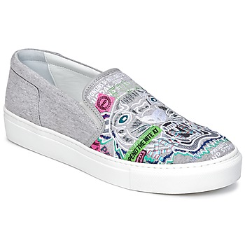 Sapatos Mulher Slip on Kenzo K-SKATE Cinza